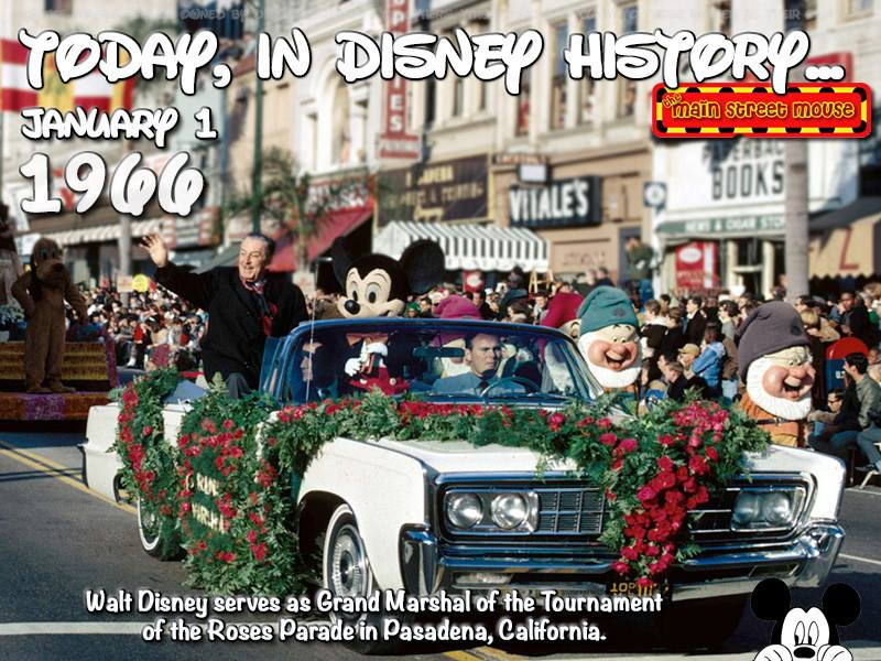 Today In Disney History ~ January 1st 1