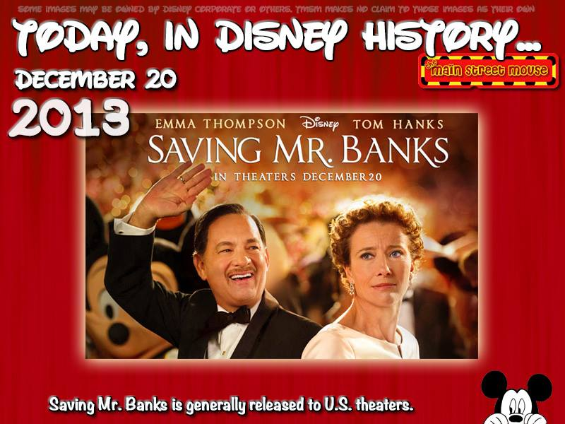 Today In Disney History ~ December 20th 2