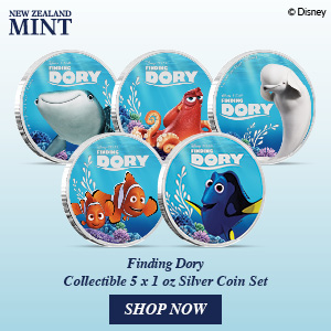 New Zealand Mint Has Released The Finding Dory Coin Set 5