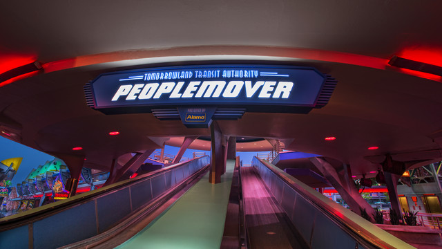 Take a Holiday Ride on the Tomorrowland Transit Authority (aka the People Mover) at Magic Kingdom! 21