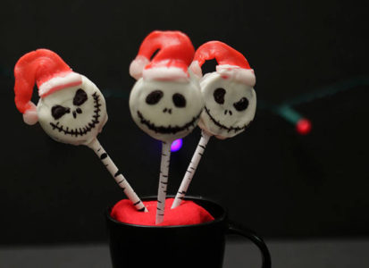 Jack Skellington / Sandy Claws Cookie Pops 11