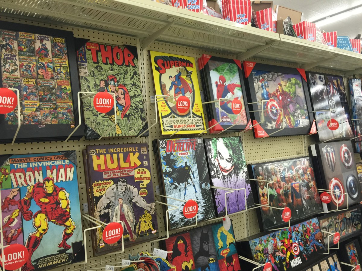 Disney christmas gift ideas at hobby lobby the main street mouse if you have a marvel or comic fan on your christmas list then hobby lobby has you covered there as well the boys in my house love the metal marvel signs negle Choice Image