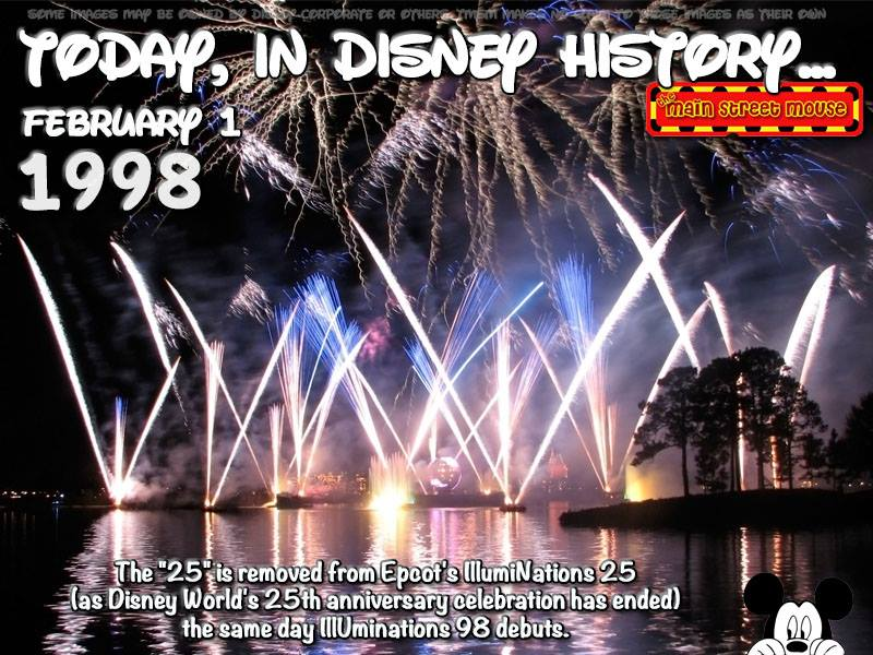 Today In Disney History ~ February 1st 1