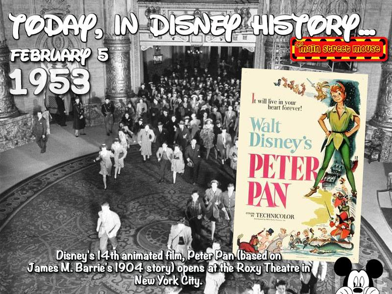 Today In Disney History ~ February 5th 1