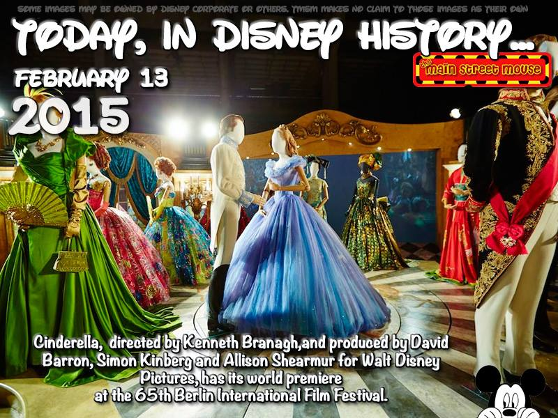 Today In Disney History ~ February 13th 1