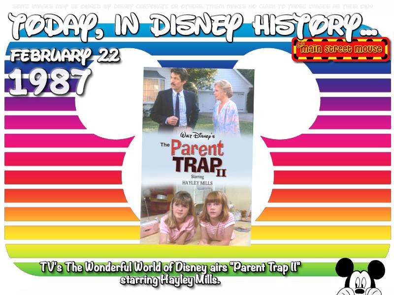 Today In Disney History ~ February 22nd 3