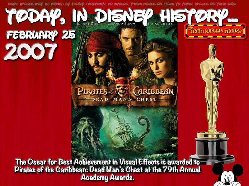 Today In Disney History ~ February 25th 3