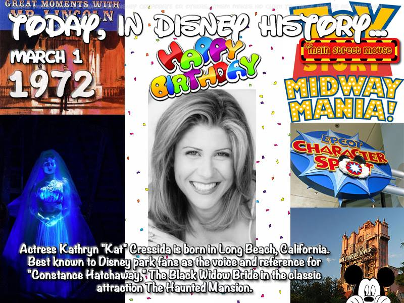 Today In Disney History ~ March 1 1