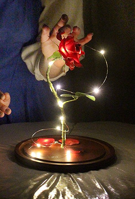 "Life-Sized 13"" Enchanted Rose that Lasts Forever Inspired By Disney Beauty and the Beast 3"