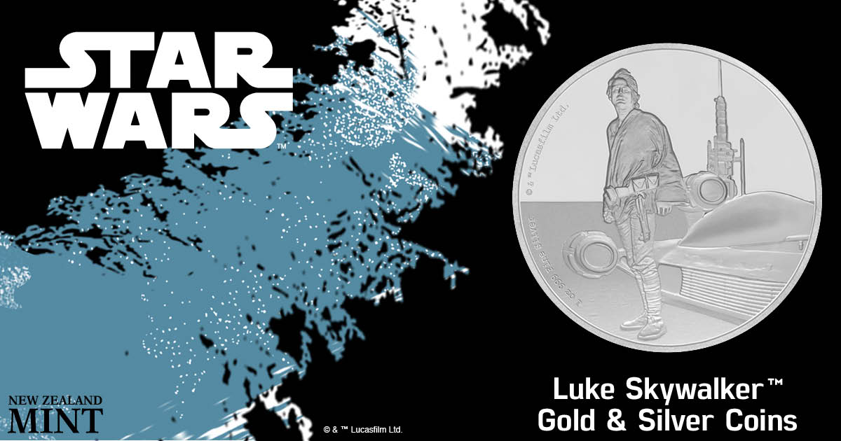 New Zealand Mint Presents Star Wars Classic – Luke Skywalker 1