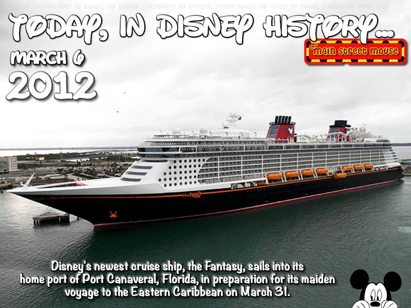 Today In Disney History March Th The Main Street Mouse - Is disney building a new cruise ship
