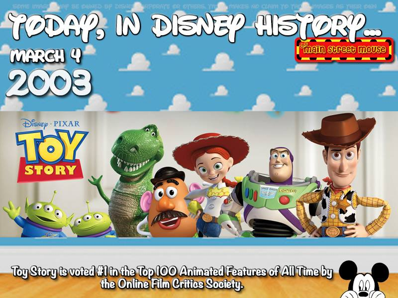 Today In Disney History ~ March 4th 3