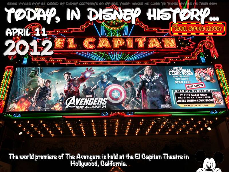 Today In Disney History ~ April 11th 1