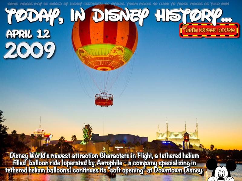 Today In Disney History ~ April 12th 1