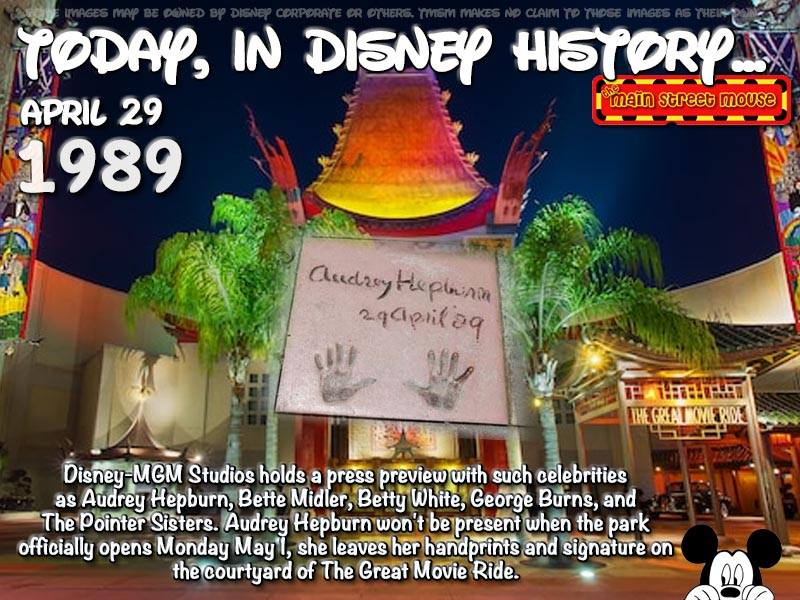 Today In Disney History ~ April 29th 5