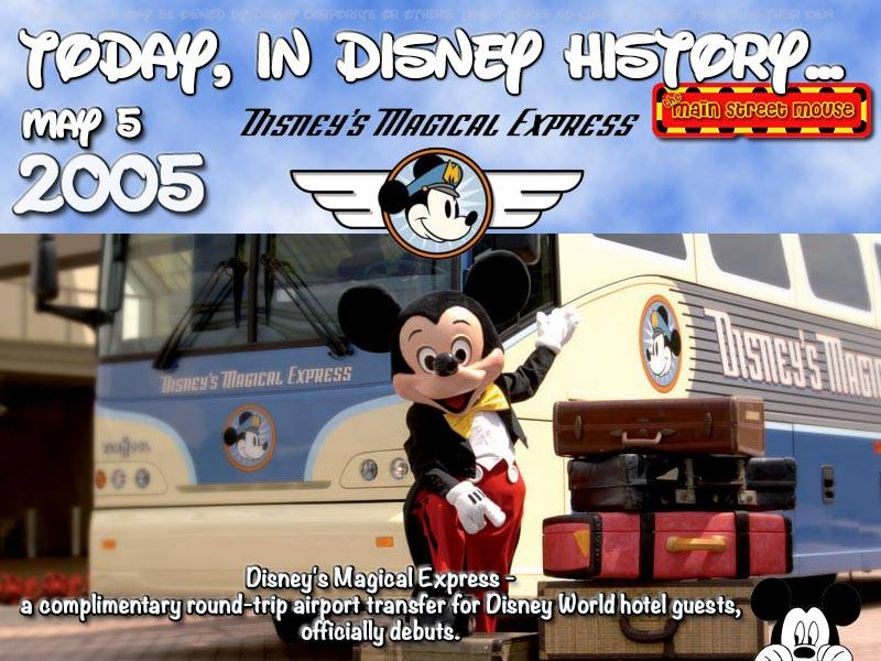 Today In Disney History ~ May 5th 2