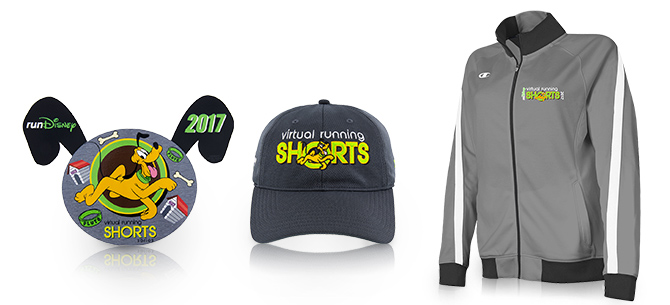 These runDisney 2017 Virtual Running Shorts Commemorative Items Can Be Yours! 26