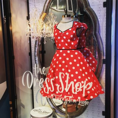Browsing the Dress Shop on Cherry Tree Lane, #DisneySprings 48