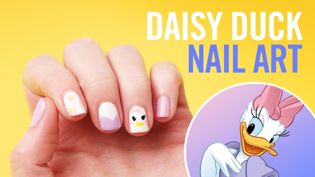 Daisy Duck Nail Art Tutorial ~ #DisneyStyle 1