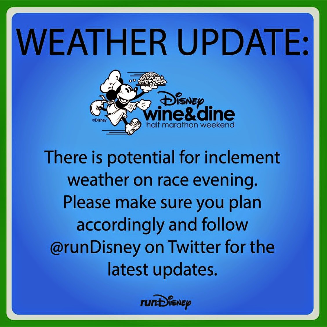 Racing Disney: Training and Racing in Inclement Weather (Spring Edition!) 2