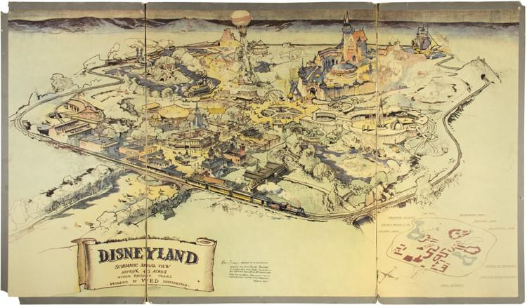 Original Disneyland Map Going Up For Auction 2