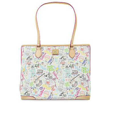 "NEW! Mickey and Minnie ""A Walk in the Park"" Design, Dooney and Bourke! 1"