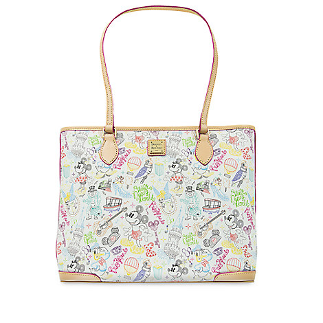 "NEW! Mickey and Minnie ""A Walk in the Park"" Design, Dooney and Bourke! 4"