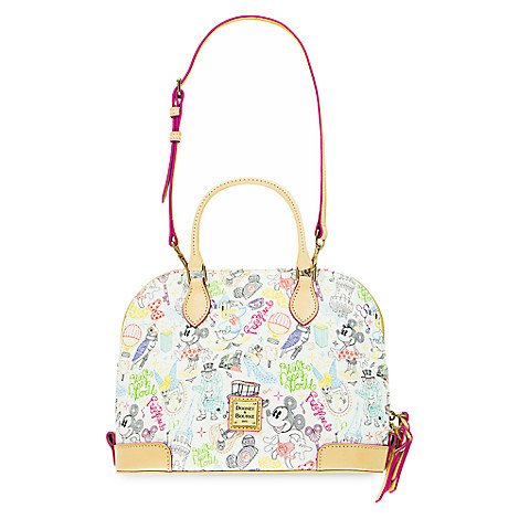 "NEW! Mickey and Minnie ""A Walk in the Park"" Design, Dooney and Bourke! 5"