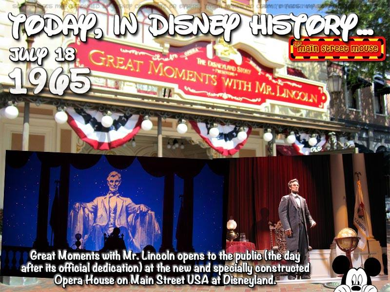 Today In Disney History ~ July 18th 1