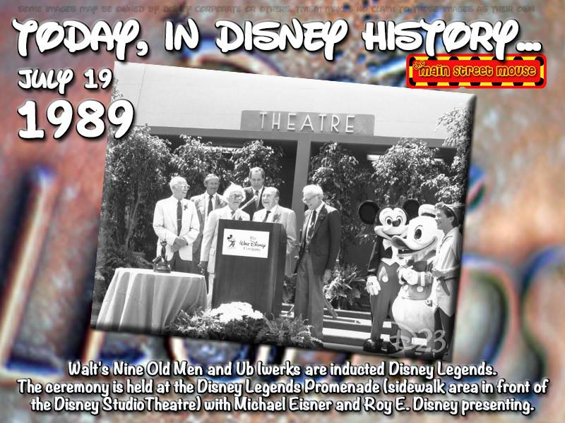 Today In Disney History ~ July 19th 1
