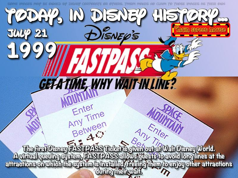 Today In Disney History ~ July 21st 20