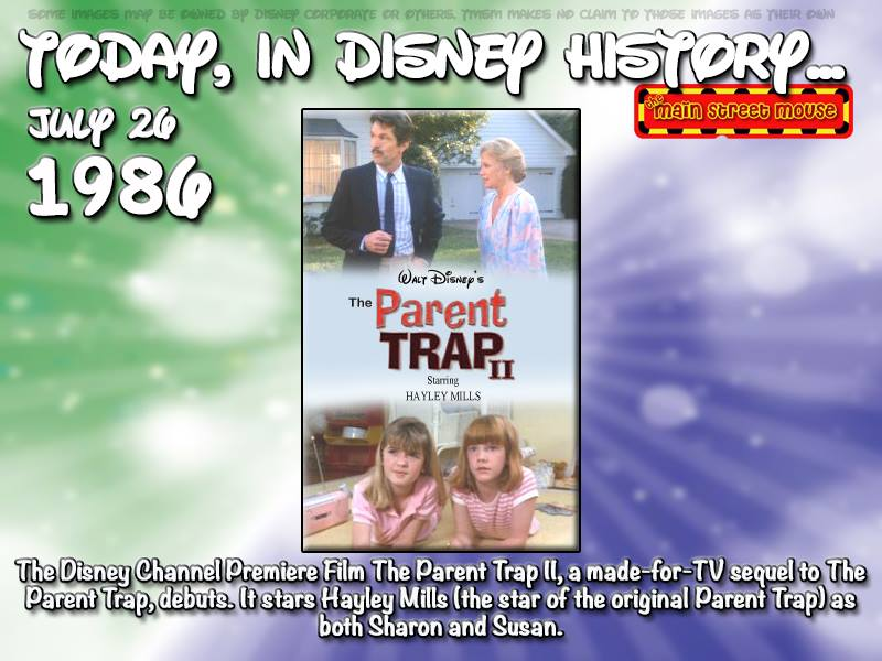 Today In Disney History ~ July 26th 1