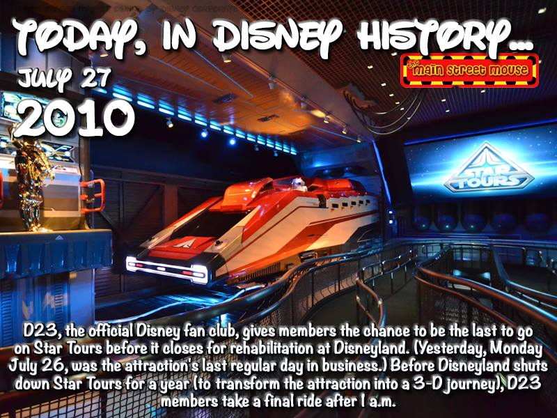 Today In Disney History ~ July 27th 3