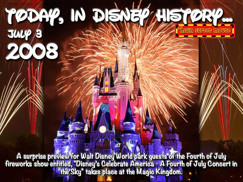 Today In Disney History ~ July 3rd 1