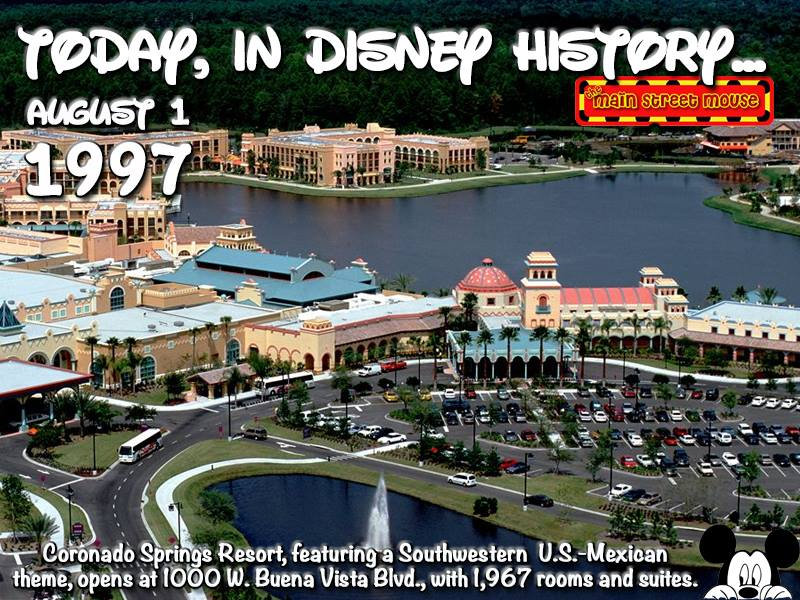Today In Disney History ~ August 1st 2