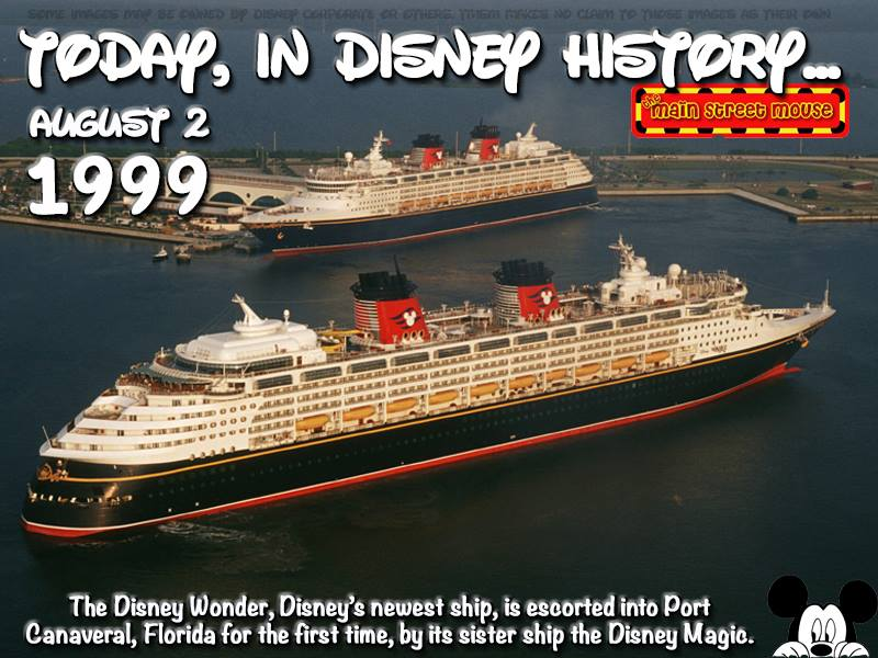 Today In Disney History ~ August 2nd 20
