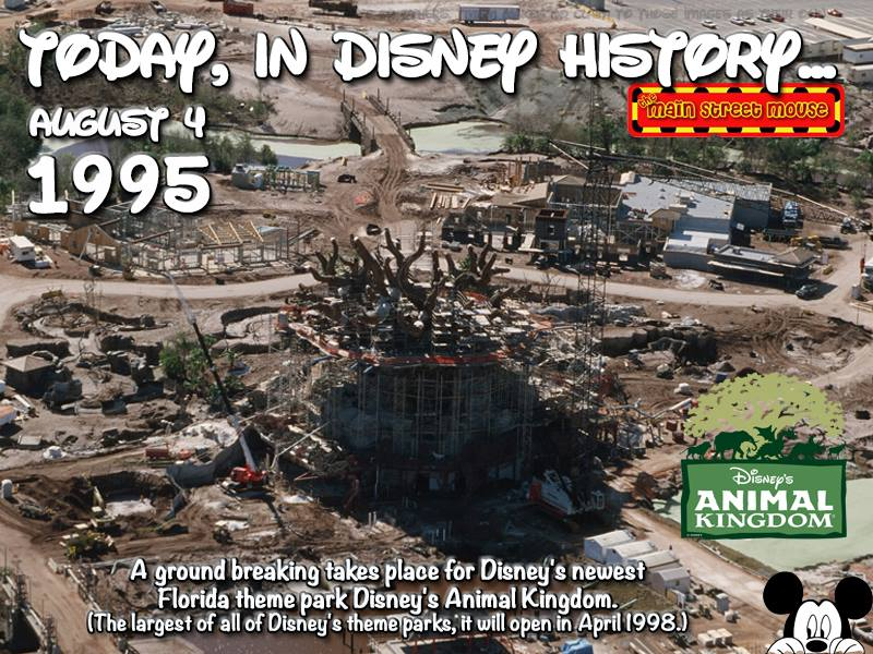Today In Disney History ~ August 4th 16