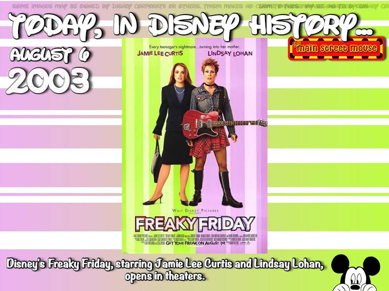 Today In Disney History ~ August 6th 12