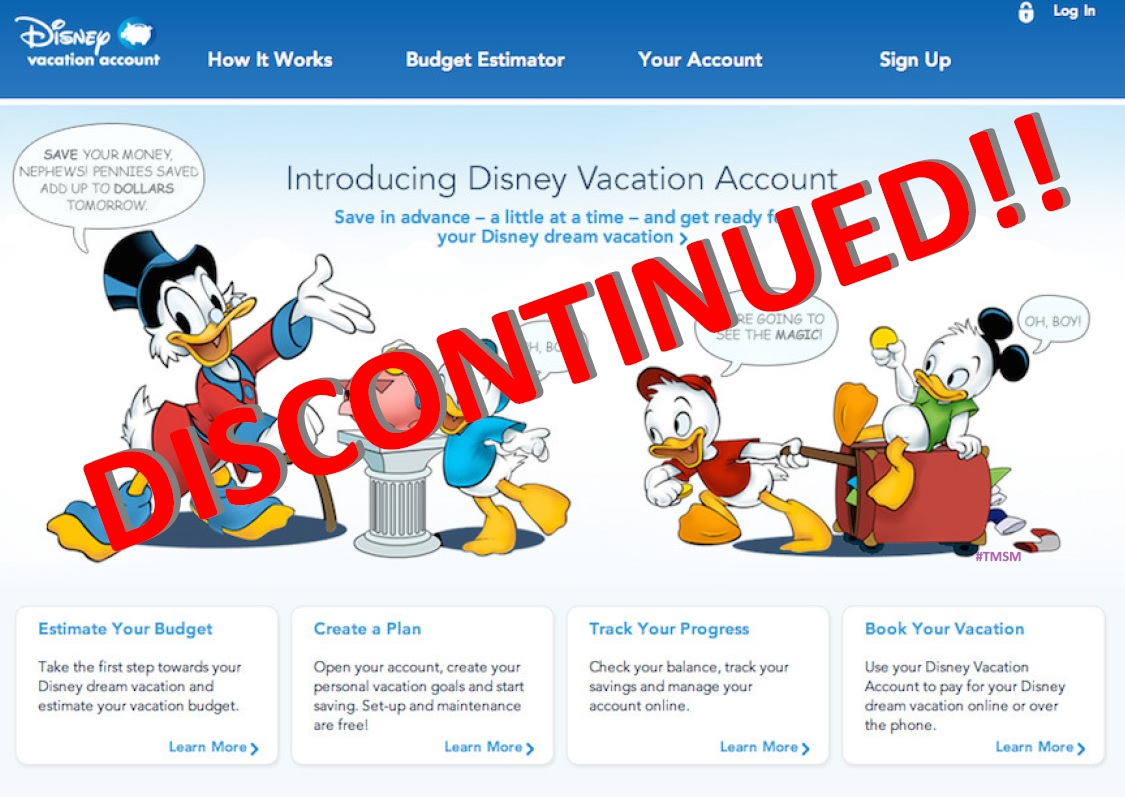 The Disney Vacation Account Has Been Discontinued! 1