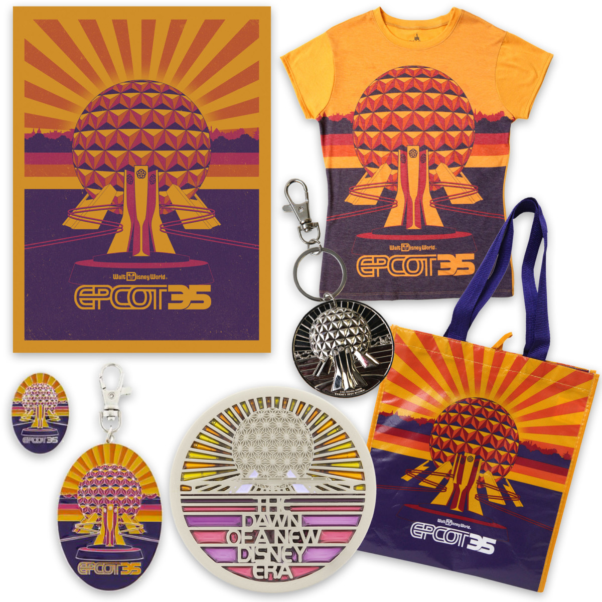 Begin to Dream with Retro-Inspired Merchandise for 35th Anniversary of Epcot This Fall 1
