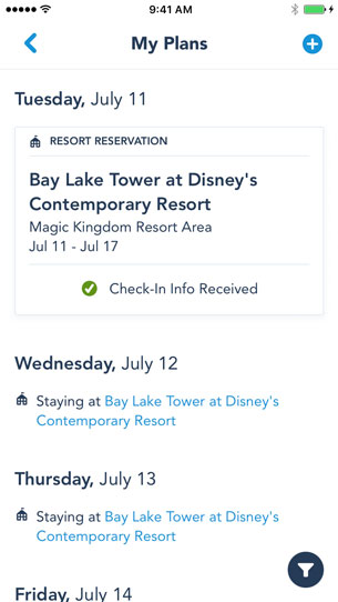 Online Check-In Now Available on My Disney Experience App, Allowing Guests to Start Walt Disney World Resort Vacation Right Away