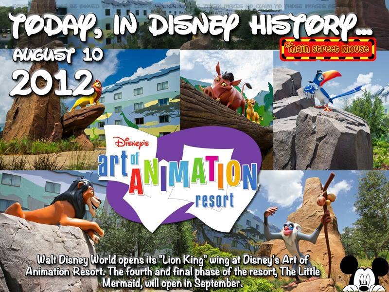 Today In Disney History ~ August 10th 5
