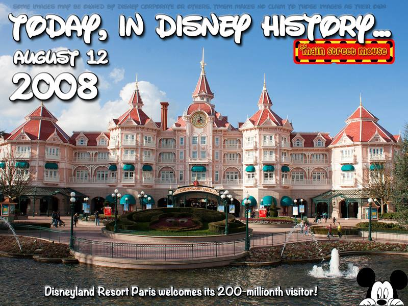 Today In Disney History ~ August 12th 1