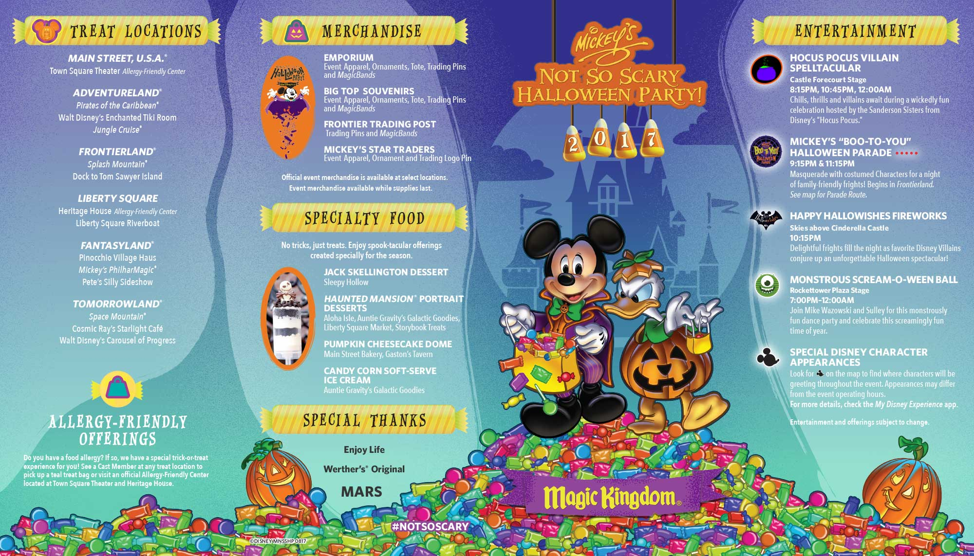 2017 Mickey's Not-So-Scary Halloween Party Character Locations 2