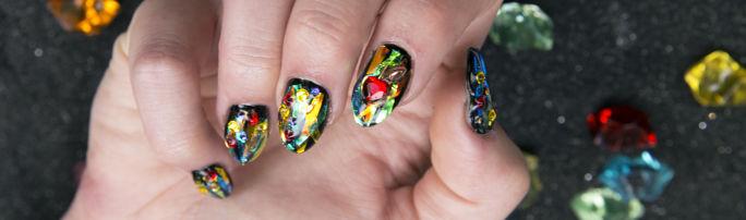 Snow White Gems Nail Art Tutorial 12