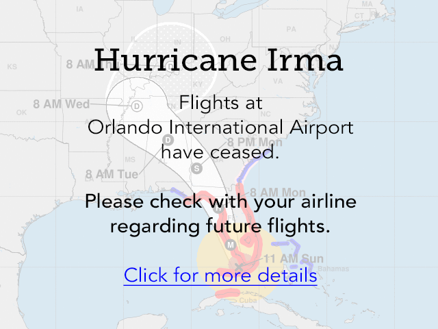Walt Disney World, Disney Cruise Line and Orlando International Airport Updates #HurricaneIrma (9/11/17) 2
