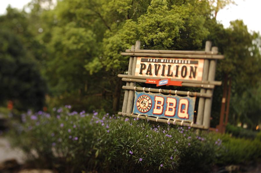 Fort Wilderness Pavilion sign