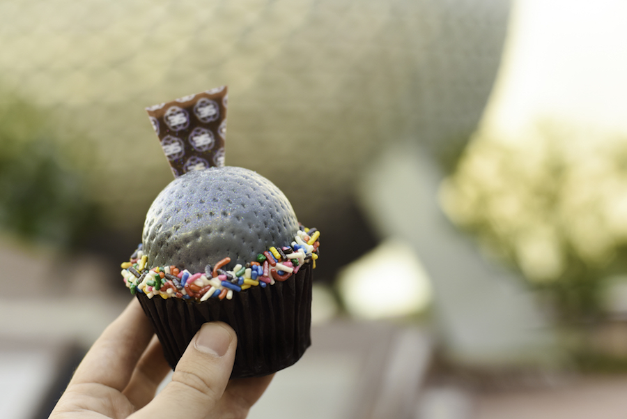 Spaceship Earth Cupcakes at Fountain Valley at the International Food & Wine Festival at Walt Disney World Resort