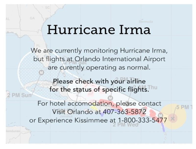Update on Orlando International Airport Closure Plan #HurricaneIrma 3