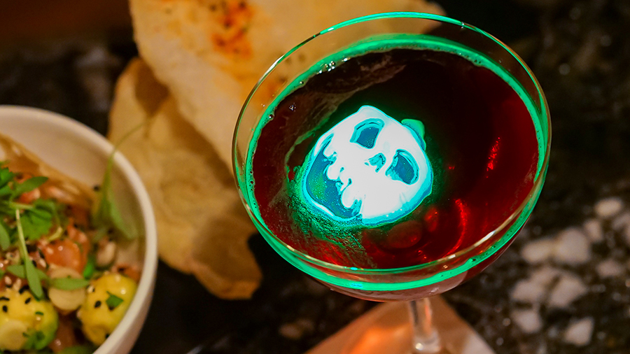 Poison Appletini Halloween inspired cocktails at Carthay Circle in Disney California Adventure Park
